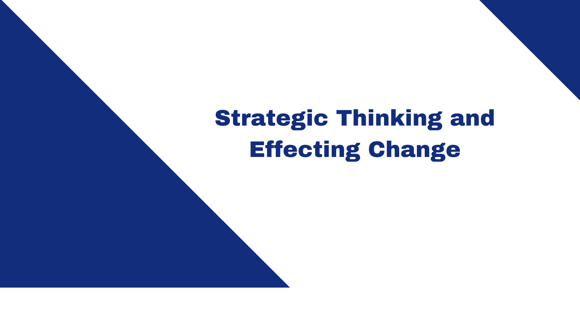 Strategic Thinking and Effecting Change: TNT Express