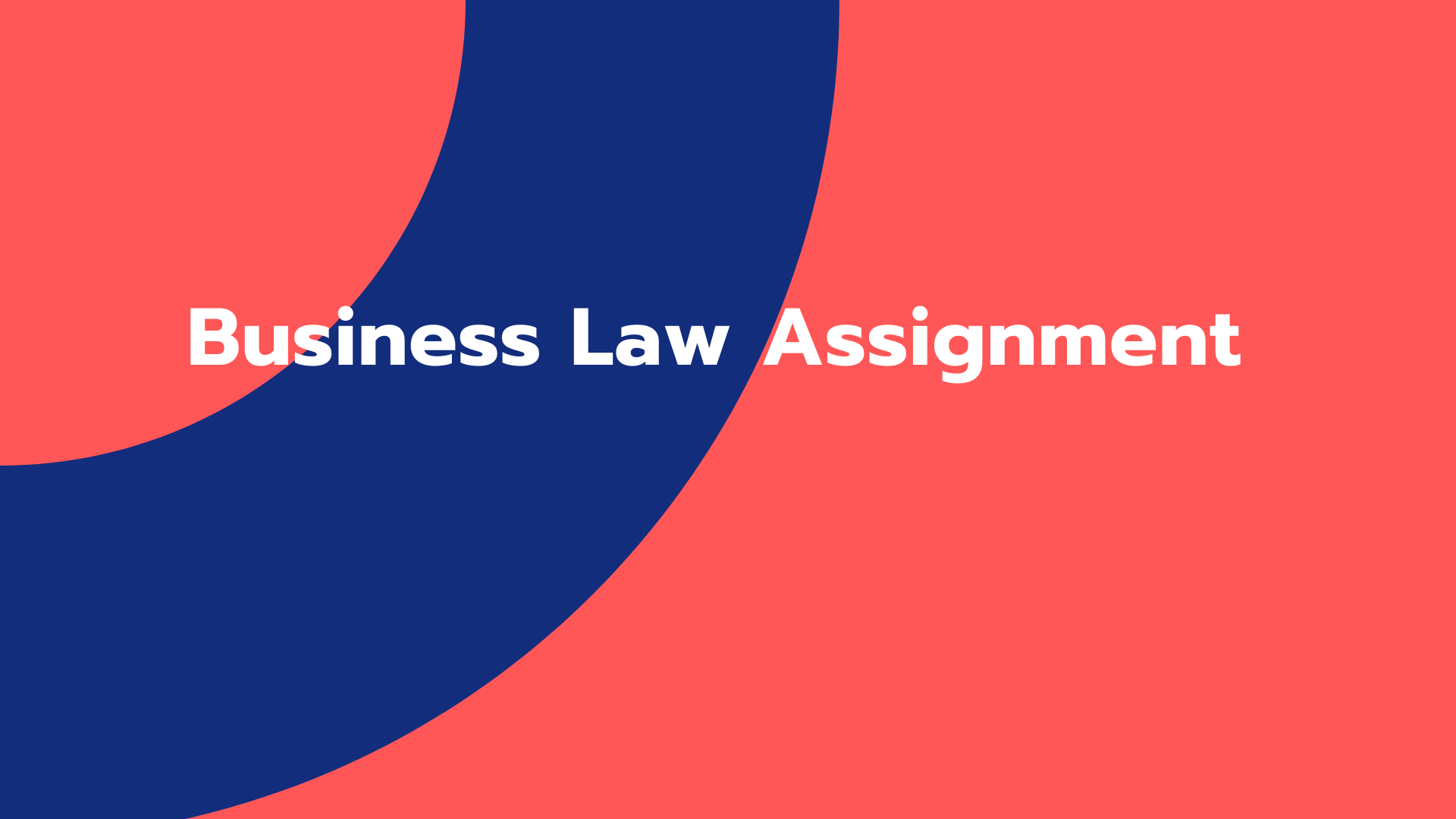 Business Law Assignment