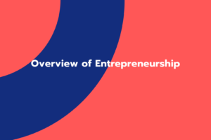 Overview of Entrepreneurship