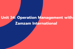 Unit 34: Operation Management with Zamzam International