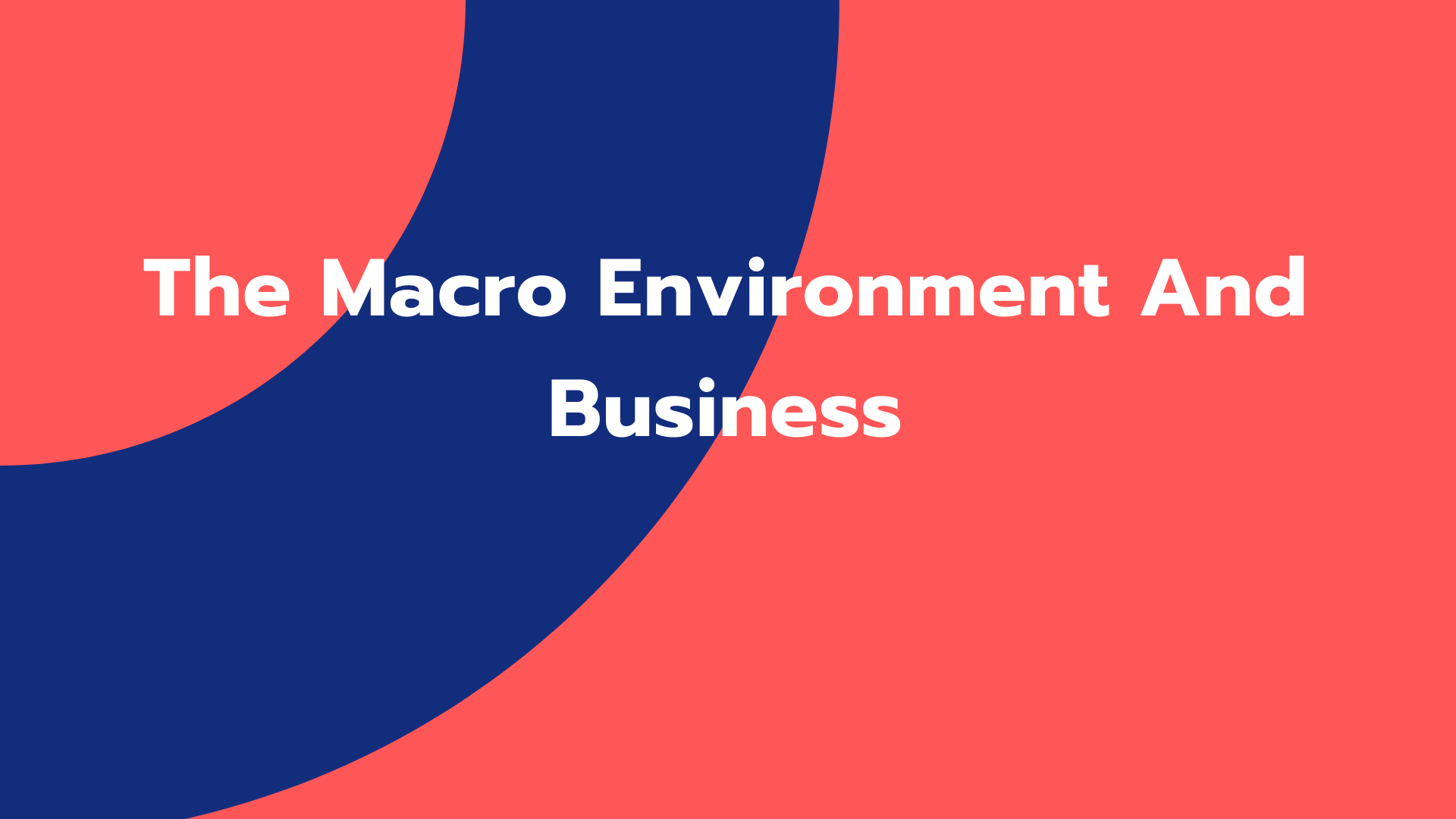 The Macro Environment And Business