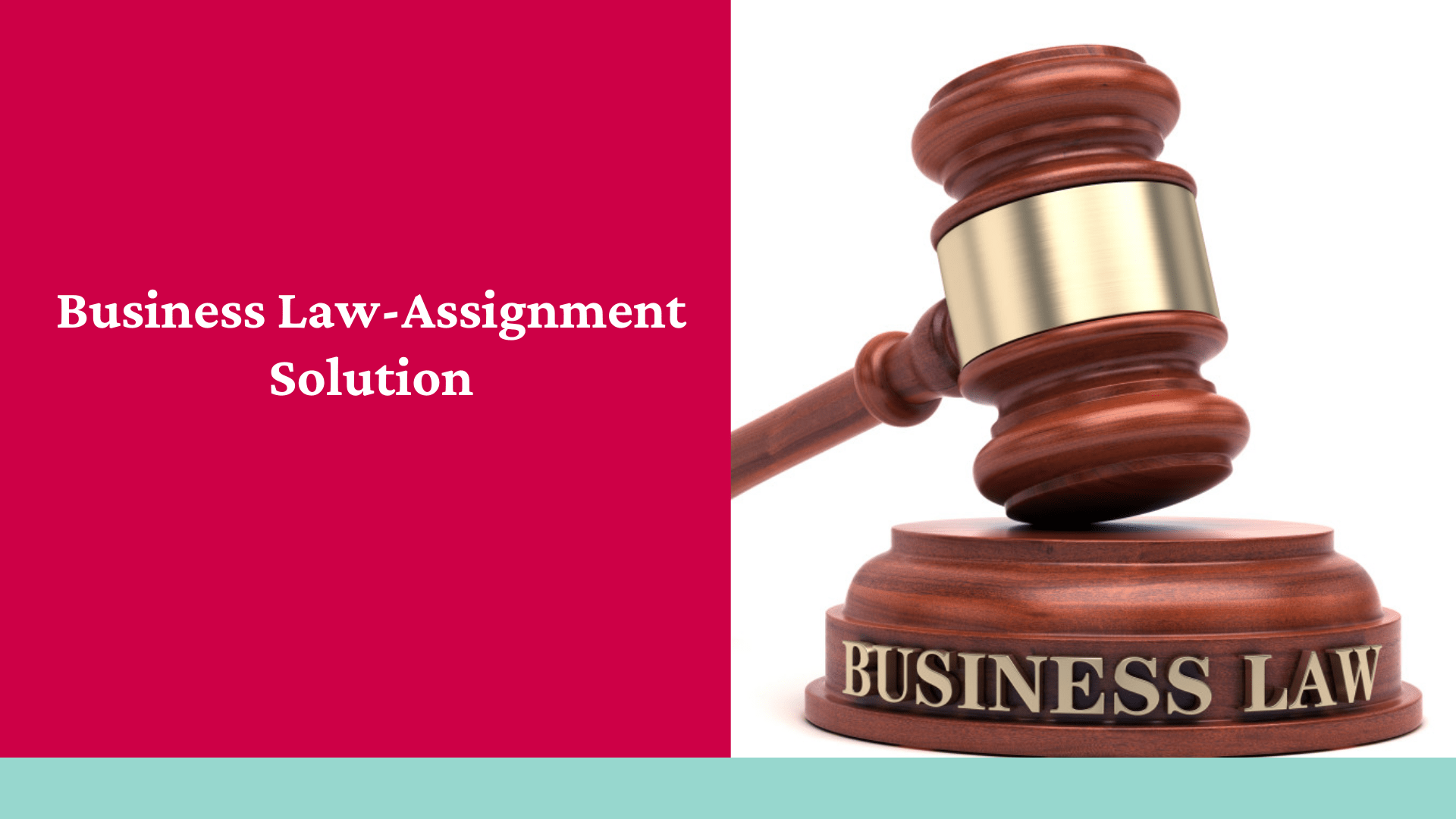 Business Law-Assignment Solution
