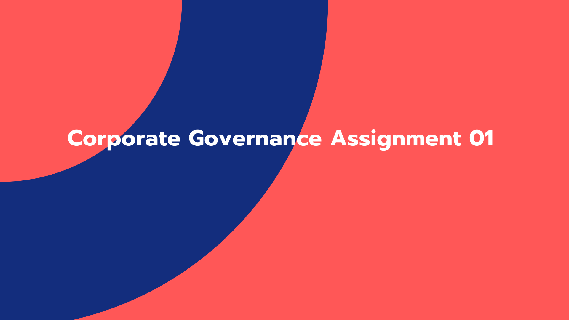 Corporate Governance Assignment 01