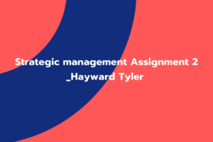 Strategic management Assignment 2 _Hayward Tyler