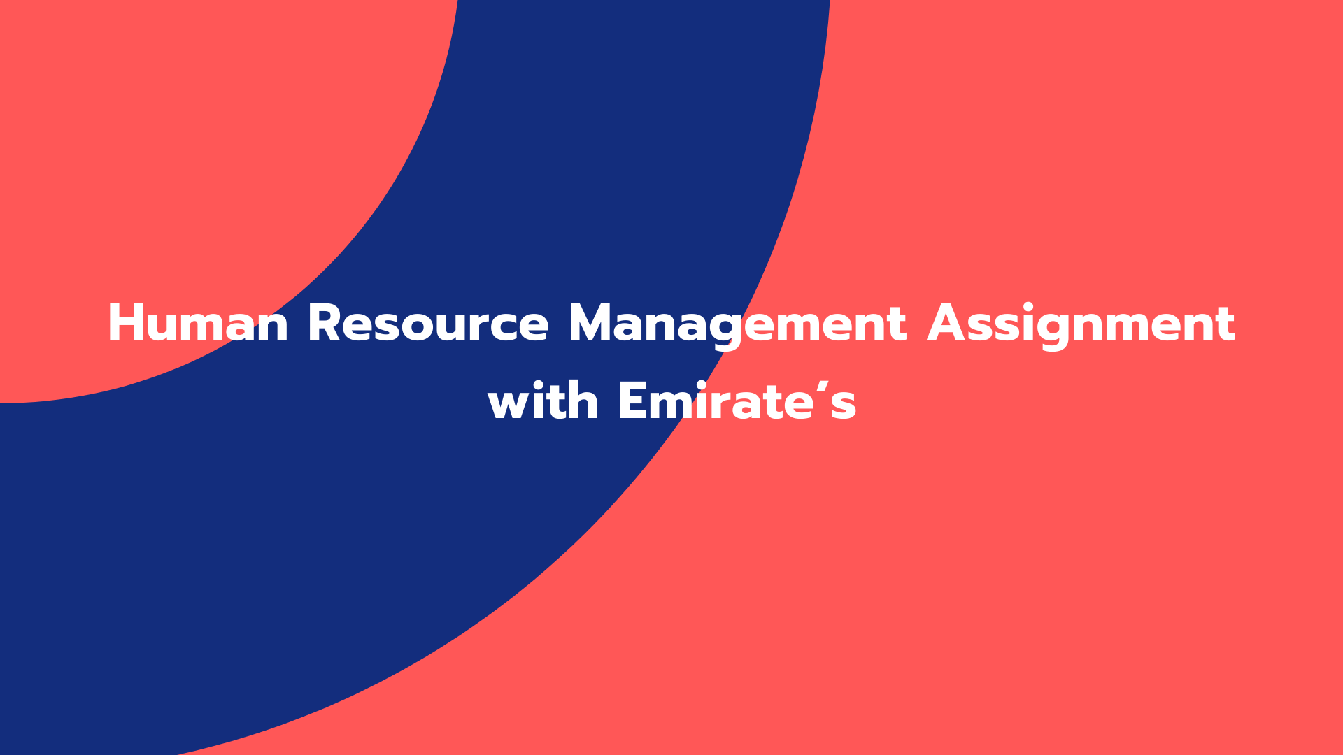 Human Resource Management Assignment with Emirate's