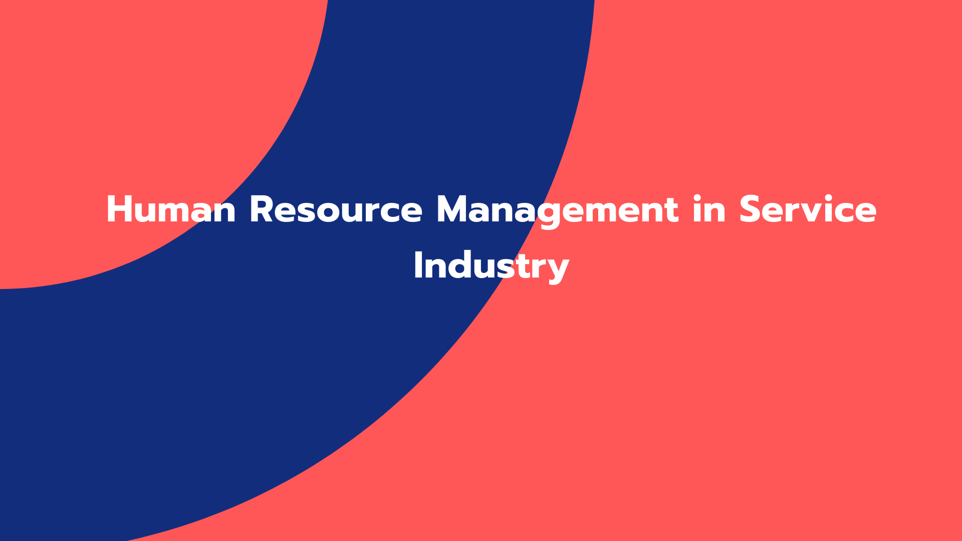 Human Resource Management in Service Industry