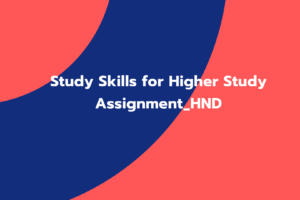 Study Skills For Higher Education Assignment _HND