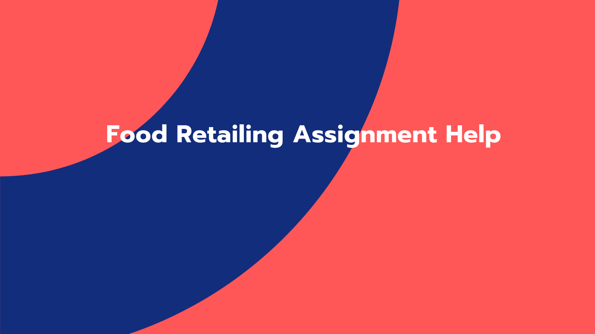 Food Retailing Assignment Help