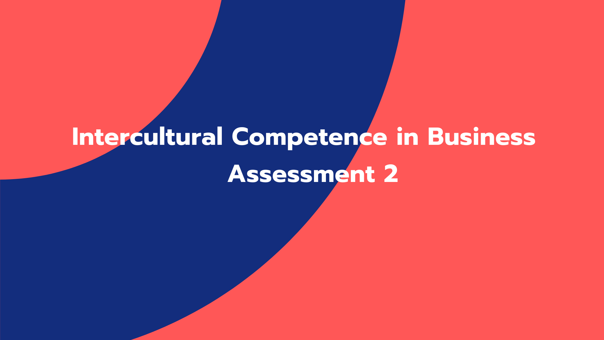 Intercultural Competence in Business Assessment 2