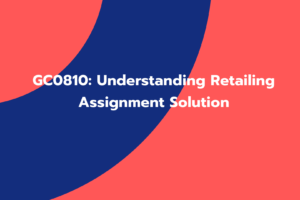 Understanding Retailing Assignment Solution
