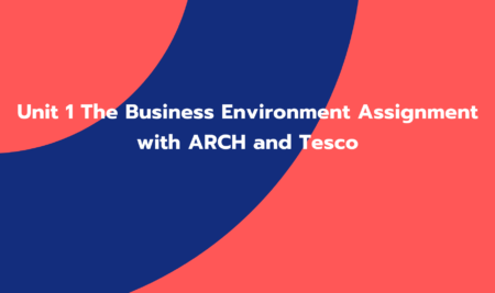 Unit 1 The Business Environment Assignment with ARCH and Tesco (GC01259)