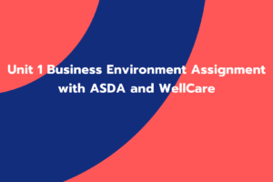 Unit 1 Business Environment Assignment with ASDA and WellCare