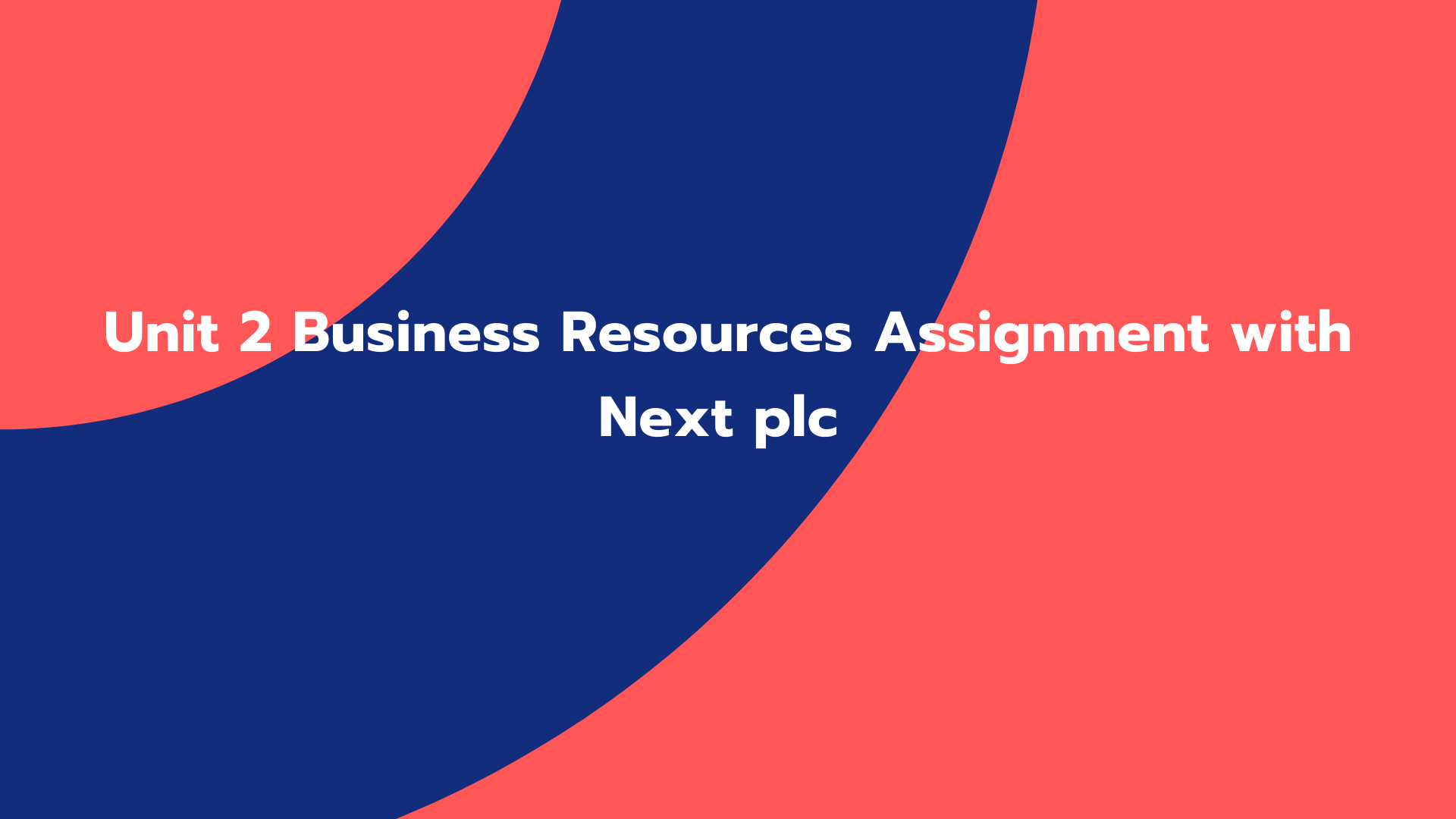 Unit 2 Business Resources Assignment with Next plc