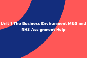 Unit 1 The Business Environment M&S and NHS Assignment Help