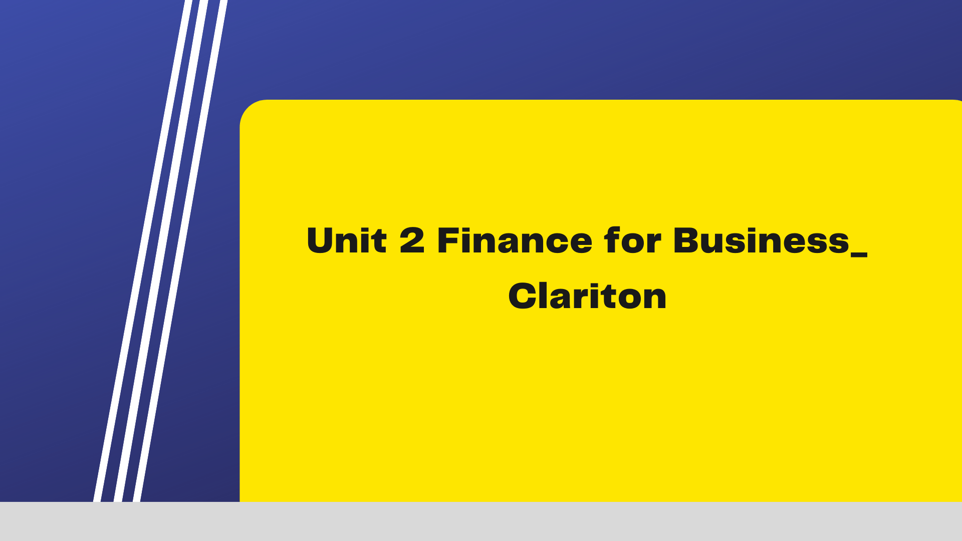 Unit 2 Managing Financial Resources and Decisions