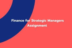 Finance for Strategic Managers Assignment