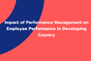 Impact of Performance Management on Employee Performance in Developing Country