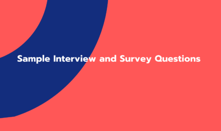 Sample Interview and Survey Questions (GC01541)