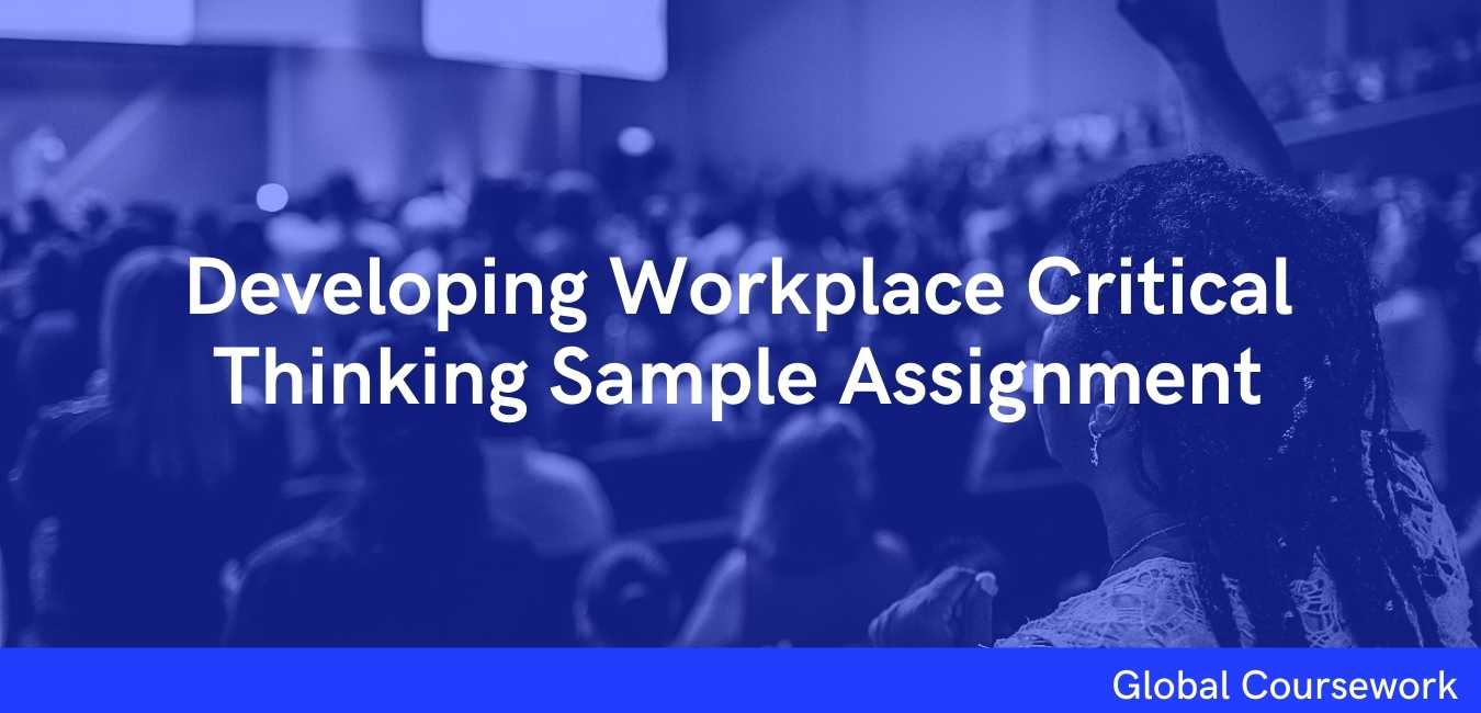 BMSK5001 Developing Workplace Critical Thinking Sample Assignment
